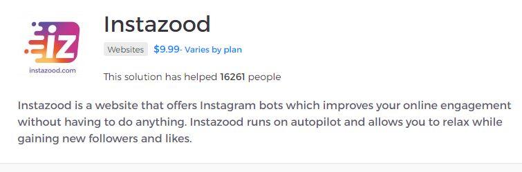 Applicazione per l'engagment su Instagram