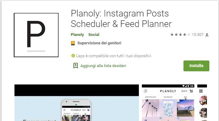 App Free per lo Scheduling di post Android su Instagram