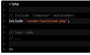 creazione file autoload.php di composer