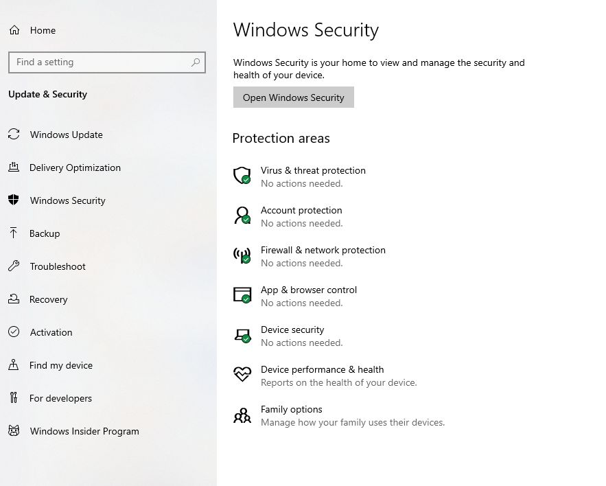 Ransomware in Windows Defender