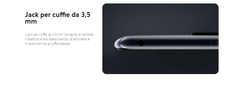 Cuffie per il nuovo cellulare Xiaomi Mi10 lite -5G da 3.5 mm