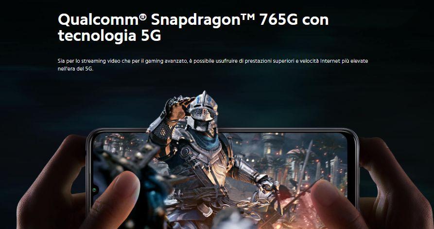 Processore Snapdragon 765 g inserito dentro Cellulare Xiaomi