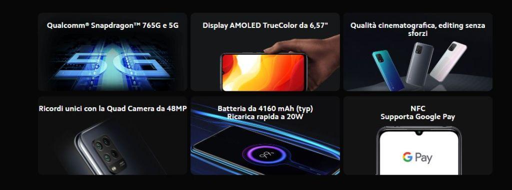 Componenti cellulare Xiaomi Mi10 lite -5G