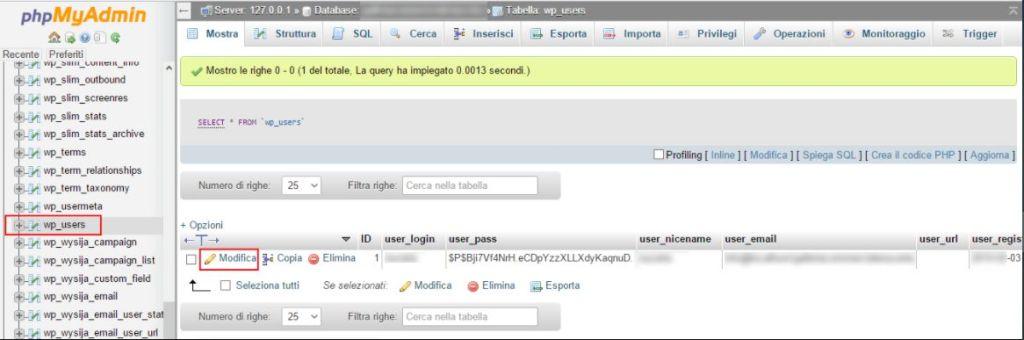 File Php di PHPmyadmin di WordPress