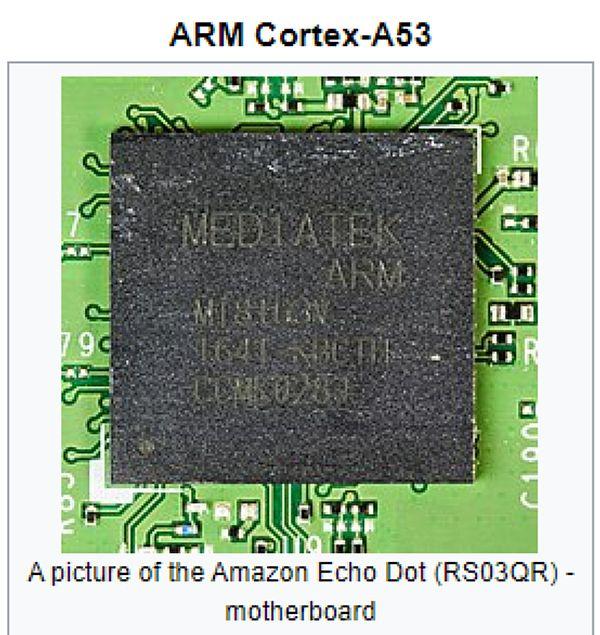 Microprocessore Cortex-A53 a 64 bit