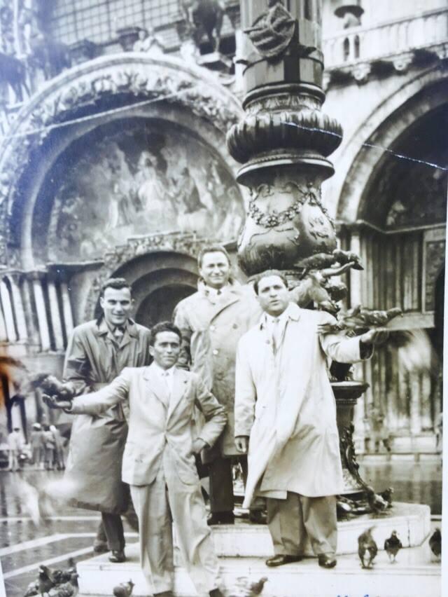Trasferta a Venezia: da sinistra a destra Roncarolo, Dionisi, Piunti e Marsili.