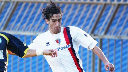 Roberto Piunti con la maglia della Samb
