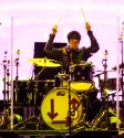 Clem Burke Blondie. Photo by Ros O'Gorman