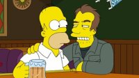 Homer Simpson and Lloyd, played by Tom Waits