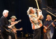 Crosby Stills Nash and Young photo by Ros O'Gorman