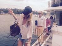 Rod Stewart goes sailing in Sydney