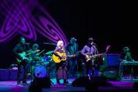 Emmylou Harris and Rodney Crowell perform at the Palais Theatre in St Kilda Melbourne on Thursday 25 June 2015. Photo by Ros O'Gorman
