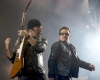 The Edge and Bono, U2 perform at Etihad Stadium. Photo by Ros O'Gorman