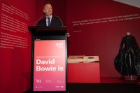 Minister for Creative Industries Martin Foley at the opening of David Bowie Is Exhibition at ACMI Melbourne. Photo by Ros O'Gorman