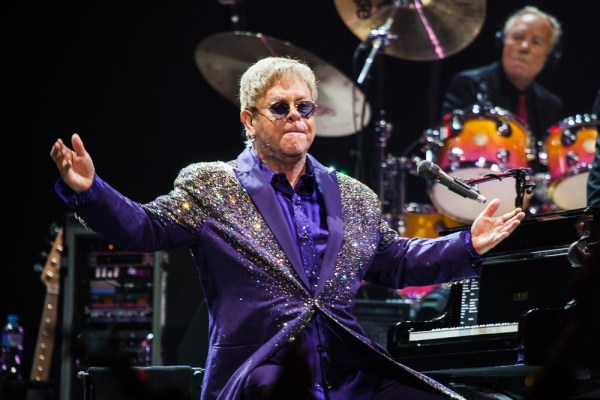 Elton John and his Band perform in Melbourne at Rod Laver Arena on Friday 11 December 2015. Photo by Ros O'Gorman