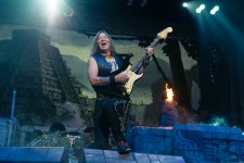 Iron Maiden performed at Rod Laver Arena on Monday 9 May 2016. Iron Maiden are touring Australia as part of the Book Of Souls World Tour.