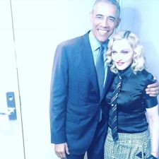 Madonna and President Obama