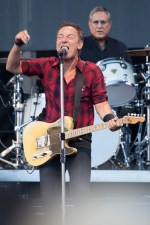 Bruce Springsteen and Max Weinberg at AAMI Park on Thursday 2 February 2017. Photo Ros O'Gorman