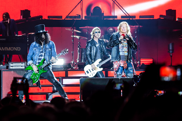Guns N Roses perform at the MCG in Melbourne on Tuesday 14 February 2017. Guns N Roses are touring Australia on their Not In This Lifetime tour. Photo by Ros O'Gorman