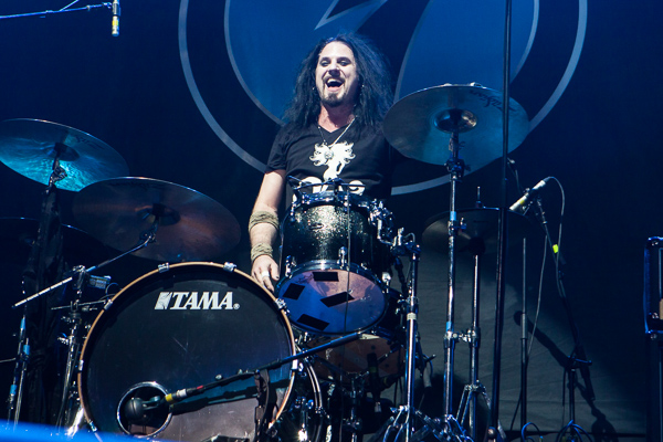 Scoty Coogan drummer and vocalist for Ace Frehley at Rod Laver Arena on Friday 20 October 2017. Photo by Ros O'Gorman