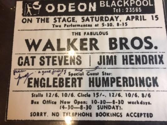 Hendrix Stevens Humperdinck show 1960s