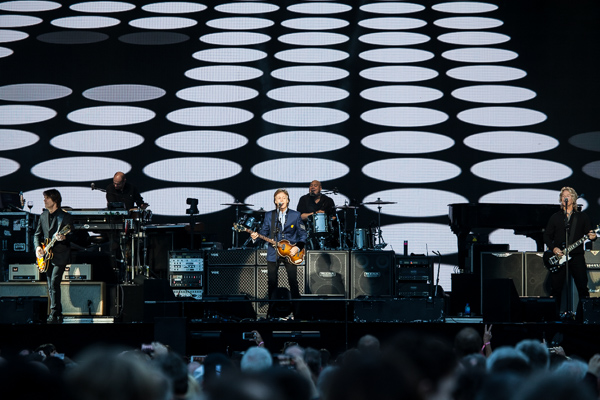Paul McCartney performs at AAMI Park Melbourne. Photo by Ros O'Gorman
