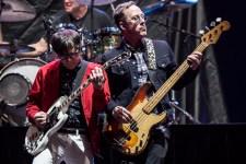 Rivers Cuomo and Scott Shriver Weezer at Etihad Stadium on Tuesday 30 January 2018. Photo by Ros O'Gorman