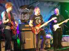 Charlie Bedford Jack Jones and Shannon Bourne at Melbourne Guitar Show 2018