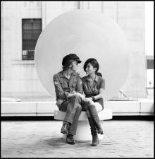 John Lennon and Yoko Ono photo: Iain Macmillan