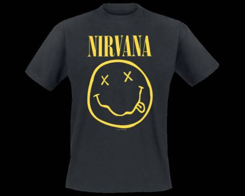 Nirvana smiley face tshirt