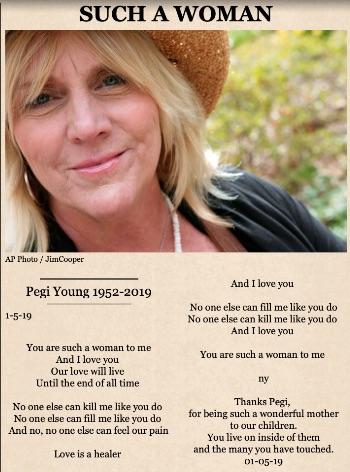 Pegi Young tribute by Neil Young