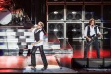 David Lee Roth and Eddie Van Halen of Van Halen perform on stage during 2013 STONE Music Festival at ANZ Stadium on April 20, 2013 in Sydney, Australia photo by Ros O'Gorman