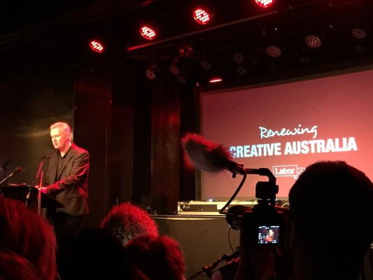 Tony Burke at the Labor Arts Launch at The espy photo by Noise11