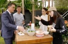 Stephen Colbert Jacinda Ardern Lorde Clarke Gayford