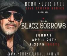 Memo Music Hall The Black Sorrows 26 April