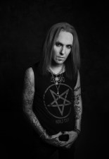 Guitarist Alexi Laiho from Bodom After Midnight at a promo shoot. March 1st, 2020, Helsinki Finland. Photo by Terhi Ylimäinen.