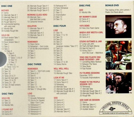 John Lennon Plastic Ono Band sessions