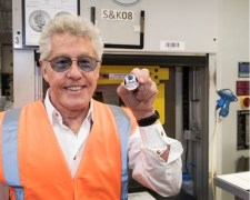 To celebrate the launch of a new range of collectable coins celebrating iconic British band, The Who, co-founder and lead singer of The Who Roger Daltrey visited The Royal Mint to strike one of the very first coins.
