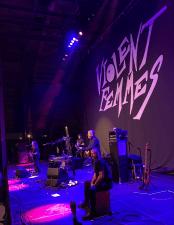 The Violent Femmes onstage in St. Louis. (L-R Gordon Gano, Blaise Garza, BR, John Sparrow) Photo: KSPRZK