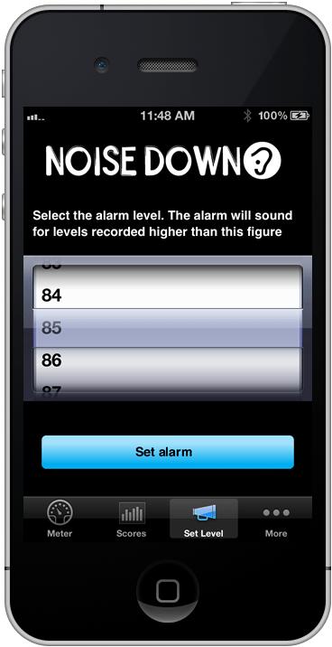 Noise Down App iPhones