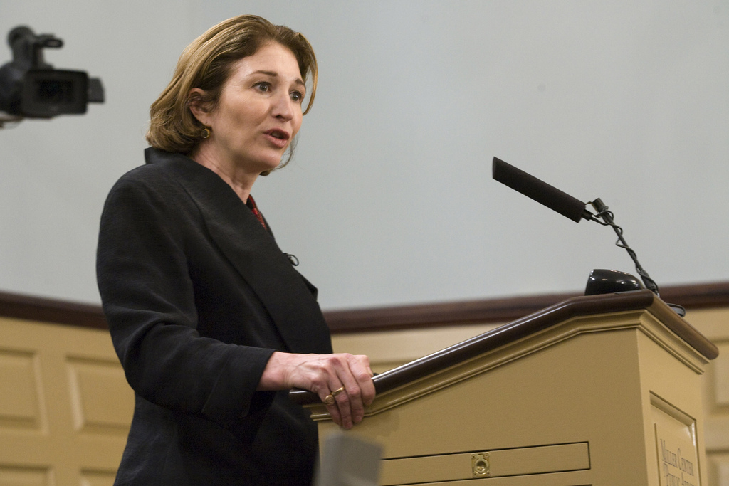 Anne-Marie Slaughter gives a speech at the Miller Center