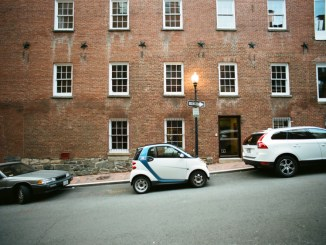 The way a typical car2go driver parks in the city.