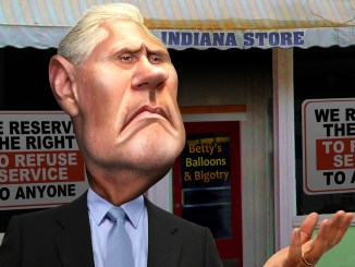 Mike Pence - Anti-Gay Cruader Donkey Hotey