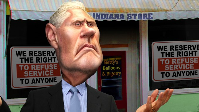 Mike Pence - Anti-Gay Cruader Donkey Hotey