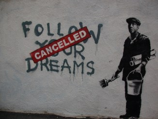 Banksy Boston Follow Your Dreams Canceled