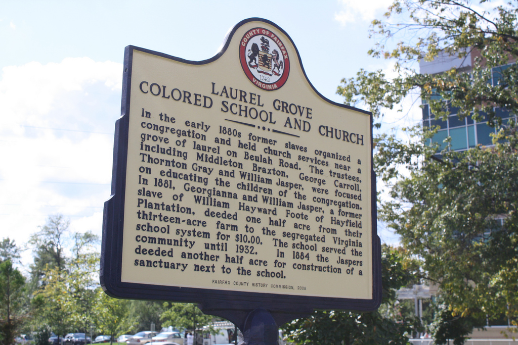 Laurel Grove Colored School Church Sign Fairfax