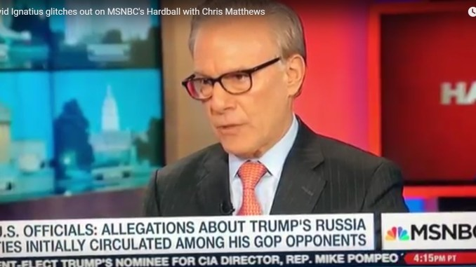 David Ignatius Glitches out on MSNBC Hardball Chris Matthews