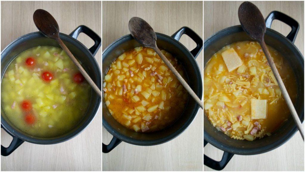 pasta e patate preparazione