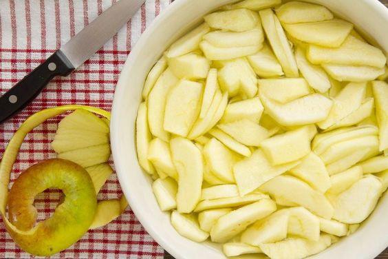 torta di mele fettine