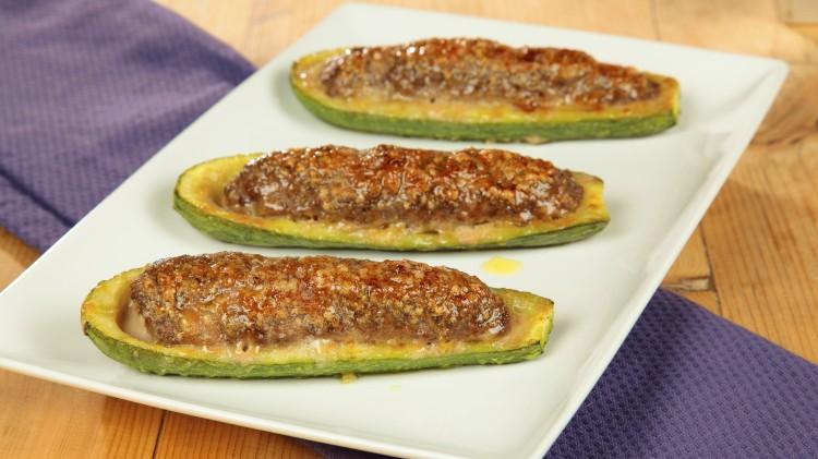 zucchine ripiene di carne e salsiccia 3